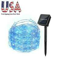 Solar Copper Wire Fairy String Night Twinkle Lights Outdoor Garden Decor 100LEDs