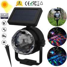 Solar Proyector Luz Láser RGB De LED Lámpara Jardín Aire Libre Camino Yarda