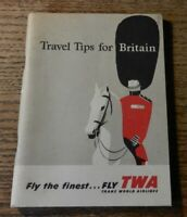 Vintage TWA Trans World Airlines Booklet - Travel Tips For Britain