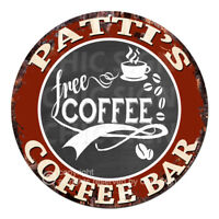 CFCB-0465 PATTI'S COFFEE BAR Sign Mother's Day Housewarming Christmas Gift