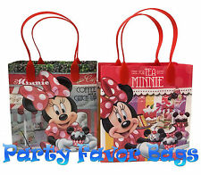 18 pc Minnie Mouse Party Favor Bags Candy Treat Birthday Durable Loot Gift Bag