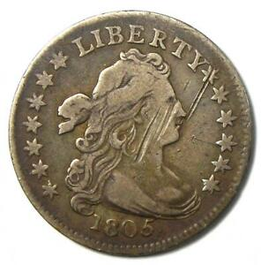 1805 Draped Bust Dime 10C - VF Details (Very Fine) - Rare Type Coin!