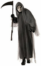 Adult Grey Ghoul Grim Reaper Costume One Size