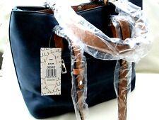 LULU LARGE DESIGNER FASHION / TWIN SHOULDER BAG /  LOVELY BLACK DK582
