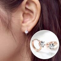 New Fashion Women Lady Elegant 1Pair Crystal Rhinestone Ear Stud