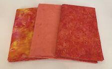 3 Yard Batik Bundle 3YD58 Purple /& Orange Tones