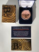 Bitcoin ...Physical Commemorative Coin...Solid Copper...with Case...w/ COA