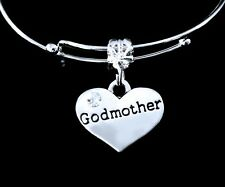 Godmother charm  fits European bracelet and necklace  mothers day