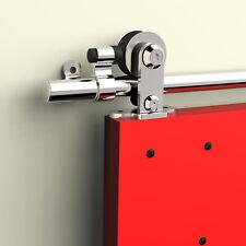 1.5M-4.87M Stainless Steel Sliding Barn Wood Door Hardware Kit For Single/Double
