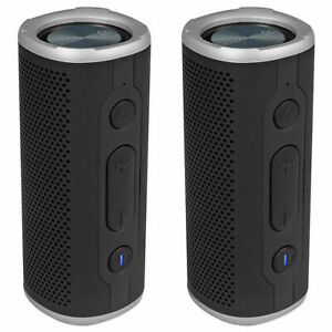 (2) Rockville ROCK LAUNCHER BK Portable Bluetooth Speakers for Spin/Yoga/Pilates