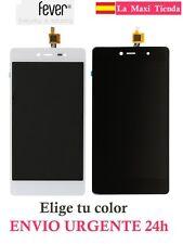 "Pantalla Completa ""Wiko Fever 4G"" Negra Blanca ( Lcd + Tactil ) Cristal Display"