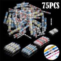 75PCS Heat Shrink Terminals Heatshrink Wire Connectors Crimp Terminal Four Sizes