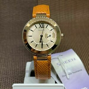 Casio Sheen SHE-3051PGL-7A Multi-Hand Brown Leather Strap Ladies' Watch
