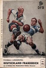 Länderspiel 16.10.1954 Deutschland / Germany - Frankreich / France, Hannover