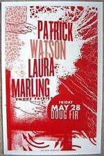 PATRICK WATSON & LAURA MARLING 2010 Gig POSTER Portland Oregon Concert