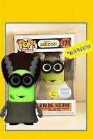 Funko Pop! Bride Kevin Minions GITD Shop Exclusive Funkoween *MINT W/PROTECTOR