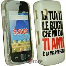 Cover Custodia Per Samsung Galaxy GIO S5660  Bugie Ti Amo + Pellicola Display