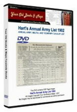 Hart's Annual Army List 1902 DATA DVD Boer War
