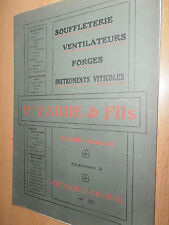 CATALOGUE SOUFFLET - VENTILATEUR POUR FORGES - INSTRUMENTS VITICOLES ( ref 52 )