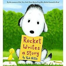 Rocket Writes a Story by Tad Hills (2012, Hardcover) Brand New FREE SHIPPING