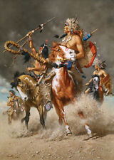 """""""Change in the Wind"""" Frank McCarthy Western Art Giclee Canvas"""