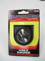 "Automotive Voltage Gauge, Meter #2495b  (1 1/2"" Diameter) 12 Volt DC, Make Waves"