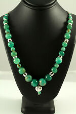 Emerald  and Sterling Silver Necklace Natural Colombian Emeralds