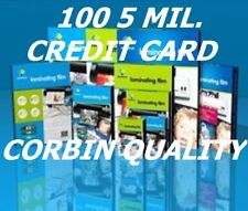 100 Credit Card 5 Mil Laminating Pouches Laminator Sheets 2-1/8 x 3-3/8 Quality