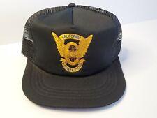 VTG 80s - CHIP CALIFORNIA HIGHWAY PATROL Snapback Trucker Baseball Hat Cap CHiPS