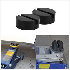 2PCS black Slotted Frame Rail Floor Jack Disk Rubber Pad Adapter Pinch Weld Side