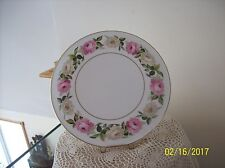 Royal Worcester Porcelain Rose Pattern Vtg 1983 Royal Garden Elgar Cake Plate