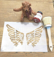 Angel Wings Stencil, Guardian Angel Stencil, Nursery Stencil, Children's Stencil