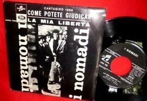 I NOMADI Come potete giudicar 45rpm 7' + PS 1966 ITALY BEAT MINT- Beach Boys