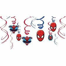 Spiderman Ultimate Swirl Decorations - 12 Count