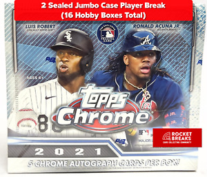 AARON JUDGE 2021 TOPPS CHROME 2 JUMBO CASES (16 BOXES) PLAYER BREAK #1