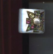 Kenneth Lane Wide White Maltese cuff bracelet