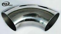 """SHORT LEG 1.75"""" 44.5mm 90 degree Exhaust Mandrel Bend T304 Stainless Steel Pipe"""