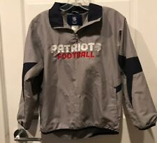 Reebok On Field 1/4 Zip New England Patriots NFL Football Jacket Sz Youth 10/12