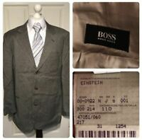 Hugo Boss Linea Ardixxone Einstein Size 110 XXL 54 44R Wool Cashmere Jacket Grey