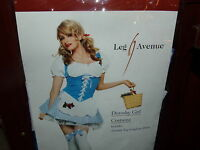 Adult Leg Avenue Dorothy Girl Wizard Oz Fancy Dress Halloween Costume  S SEXY!!