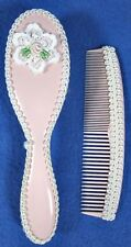 Vintage Baby Brush And Comb Gift Set Pink Made in Switzerland Walther
