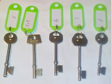Locksmith Mortise Lock Identification Gauge Keys  Assorted Locksmith Keys pick