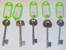 Xx Locksmith Mortice Lock Identification Gauge Keys/ Assorted Locksmith Keys Xx