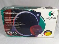 Logitech Z-340 3-Piece Speaker System + Subwoofer Desktop System Audio 2.1