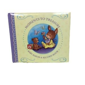 Baby Album Record Book Keepsake Box Moments to Treasure Bear Bunny Multi Years