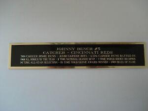 Johnny Bench Cincinnati Reds Baseball Jersey Display Case Nameplate 1.5 X 8