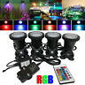 1-4Set 36 LED Remote Control Garden Spotlight RGB Color Changing Landscape Light