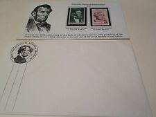 Lincoln Sesquecential 1959 one cent & three cent stamps professionally mounted
