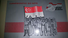 Singapore Commemorative $50 note with Folder
