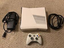 Microsoft XBOX 360 S Slim-500GB Gaming Console W/cords & White Controller